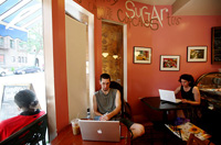 Writers-in-cafe