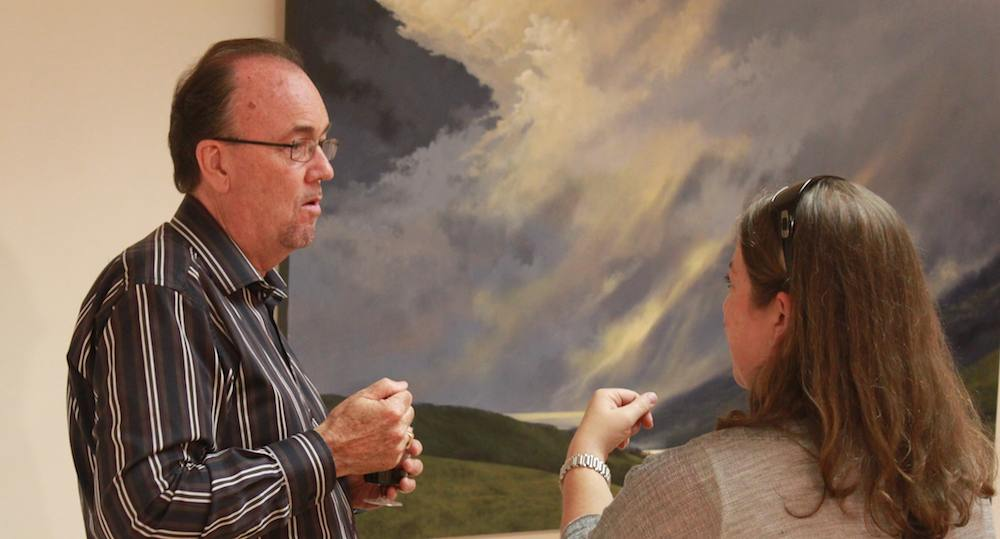 J Douglas Thompson discusses his painting 'Highland Descent'