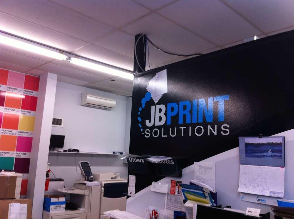 Office of J B Print Solutions, printer of 26 Atlantic Crossings
