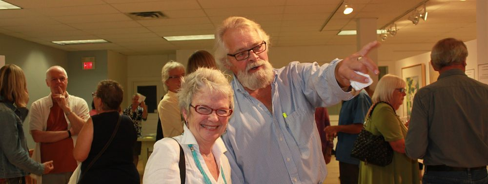 Pam Carter has a laugh with David Boorne