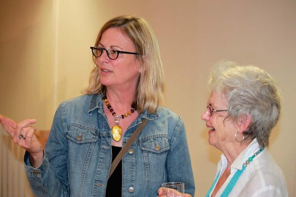 Sharon Fox-Cranston (left) shares a moment with Pamela Carter