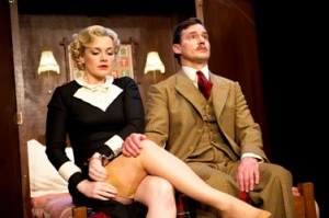 A scene from 39 Steps @ Criterion Theatre (Opening 04-10) (©Tristram Kenton 04-10) 3 Raveley Street, London NW5 2HX. Tel: 02072675550 mobile: 07973617355. email: tristram@tristramkenton.com