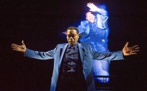 Everyman performed at the Lyttelton Theatre Chiwetel Ejiofor as Everyman ©Alastair Muir 29.04.15